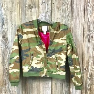 Forever 21 Girls camo coat
